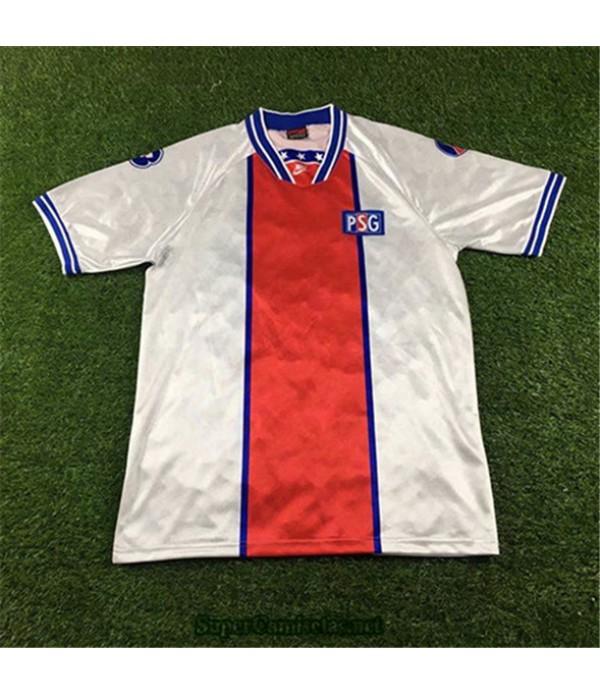 Tailandia Segunda Equipacion Camiseta Camisetas Clasicas Psg Hombre 1994 95
