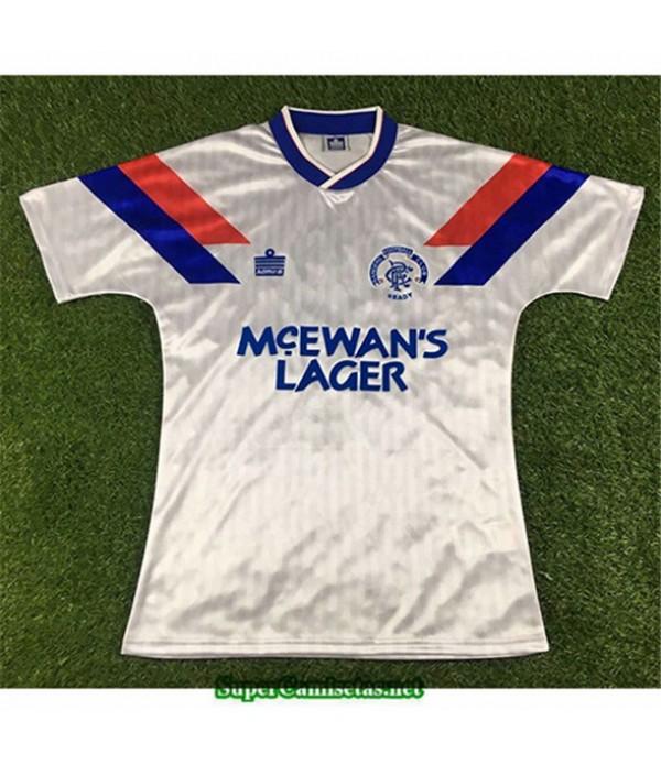 Tailandia Segunda Equipacion Camiseta Camisetas Clasicas Rangers Hombre 1990 92