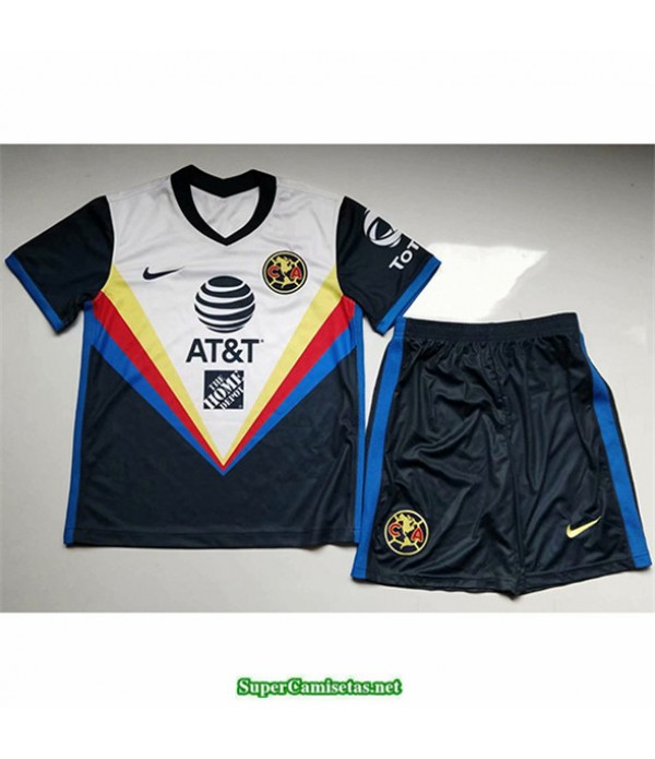 Tailandia Segunda Equipacion Camiseta Club America Niños 2020/21