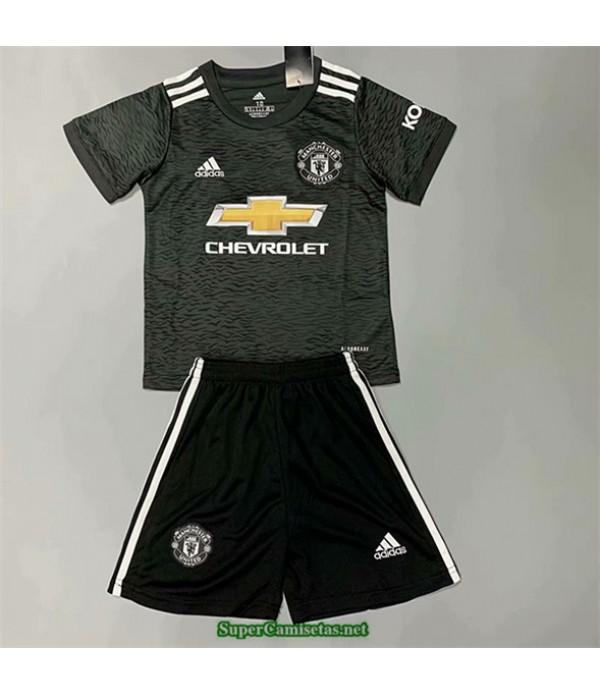 Tailandia Segunda Equipacion Camiseta Manchester United Niños 2020/21