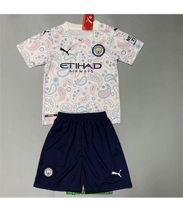 Tailandia Tercera Equipacion Camiseta Manchester City Niños 2020/21