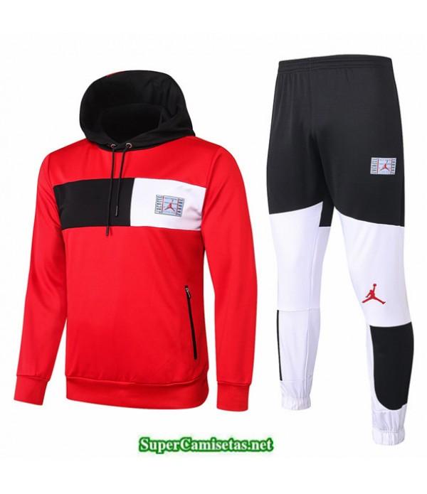 Tailandia Sudaderas De Futbol Psg Rojo/blanco/negro Jordan 2020/21