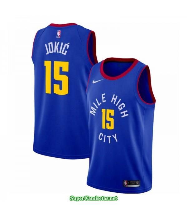 Camiseta 2018 Jokic 15 azul Denver Nuggets
