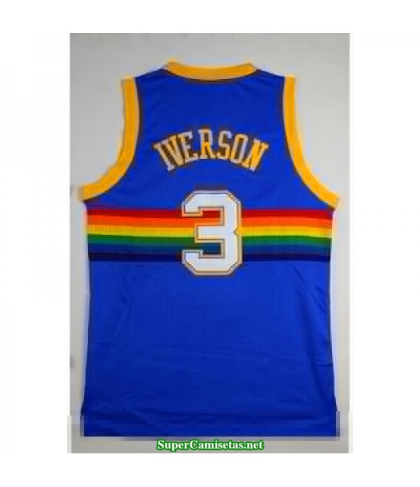 Camiseta Iverson 3 azul Denver Nuggets