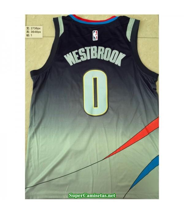 Camiseta 2020 Westbrook 0 azul Oklahoma R