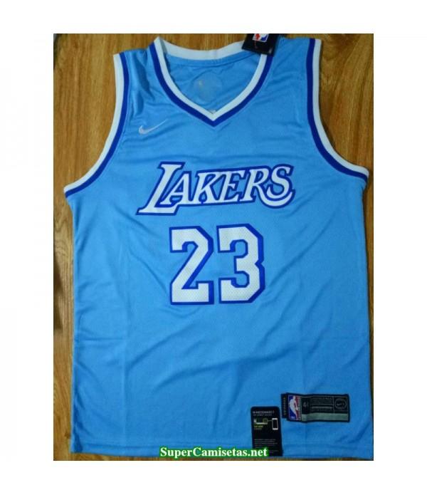 Camiseta Los Angeles Lakers James 23 Azul