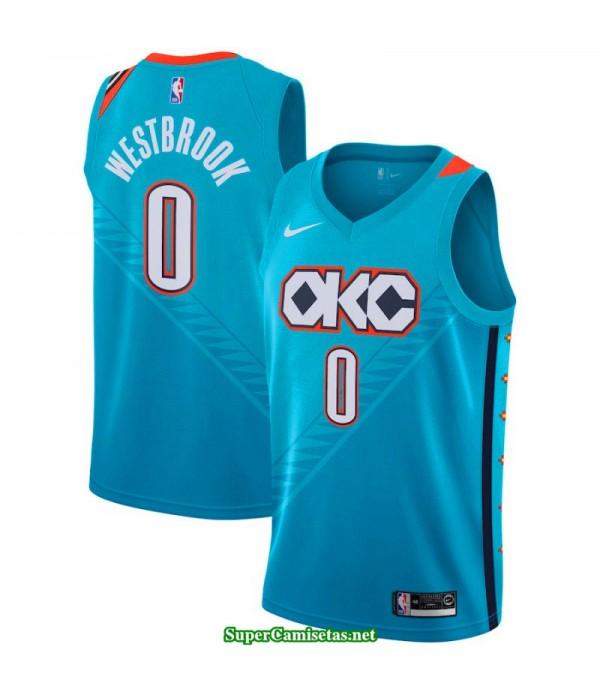 Camiseta 2019 Westbrook 0 azul Oklahoma B