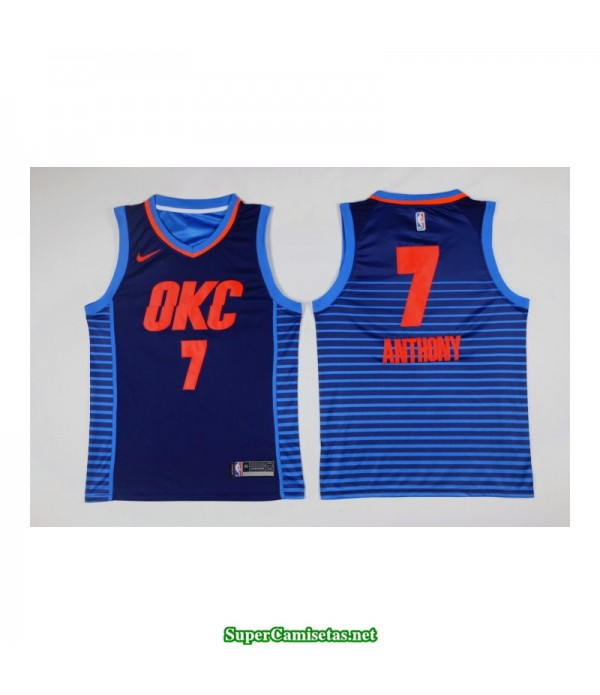 Camiseta nueva Anthony 7 azul Oklahoma city