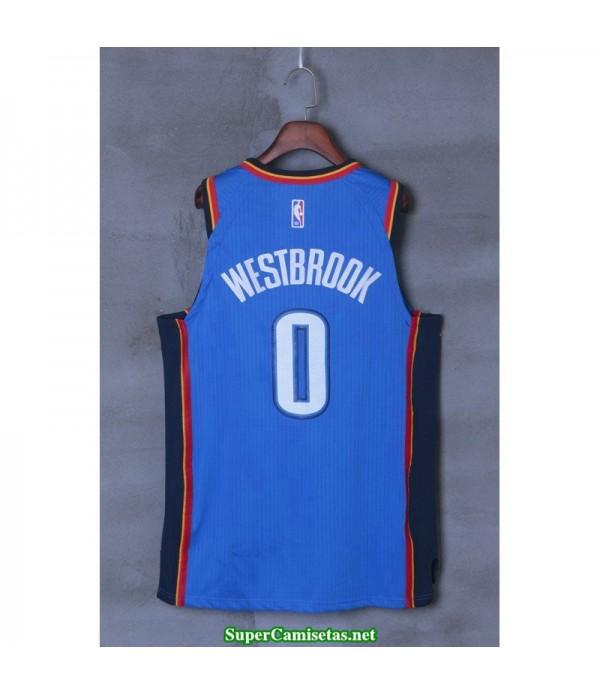 Camiseta 2018 Westbrook 0 azul Oklahoma city