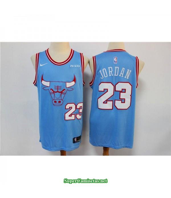 Camiseta Michael Jordan 23 Chicago Bulls azul