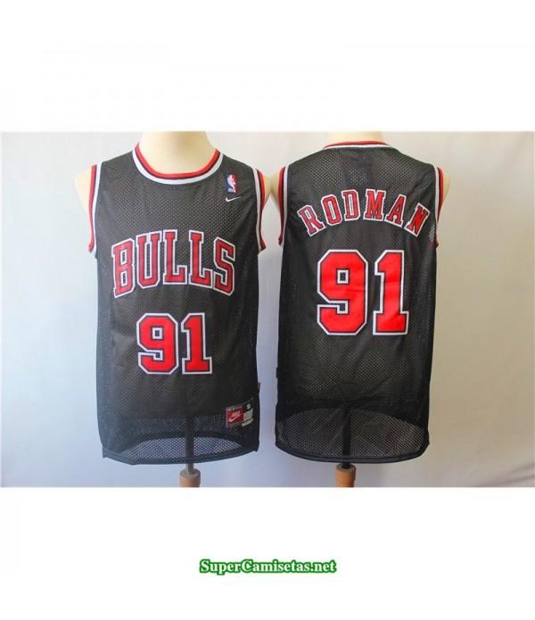 Camiseta Rodman 91 negra Chicago Bulls