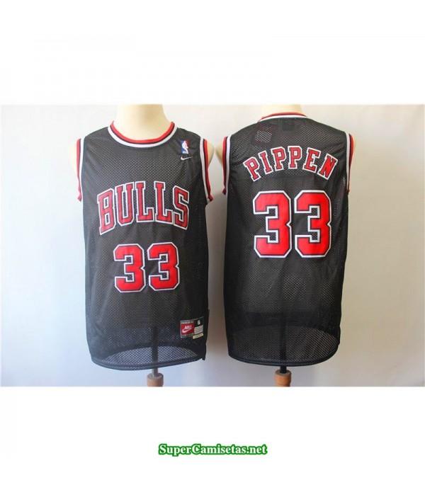 Camiseta Pippen 33 negra Chicago Bulls