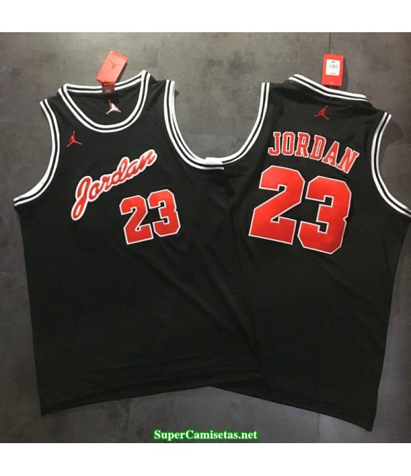 Camiseta Michael Jordan 23 negra Chicago Bulls hardwood classic