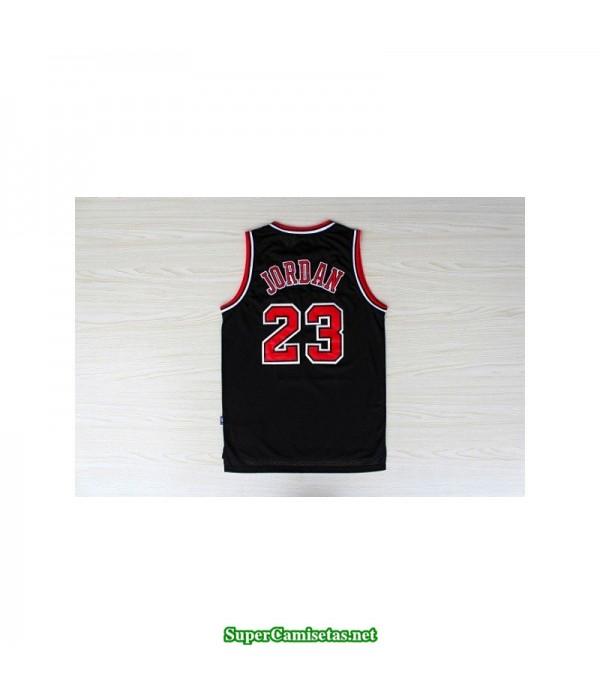 Camiseta Michael Jordan 23 negra Chicago Bulls