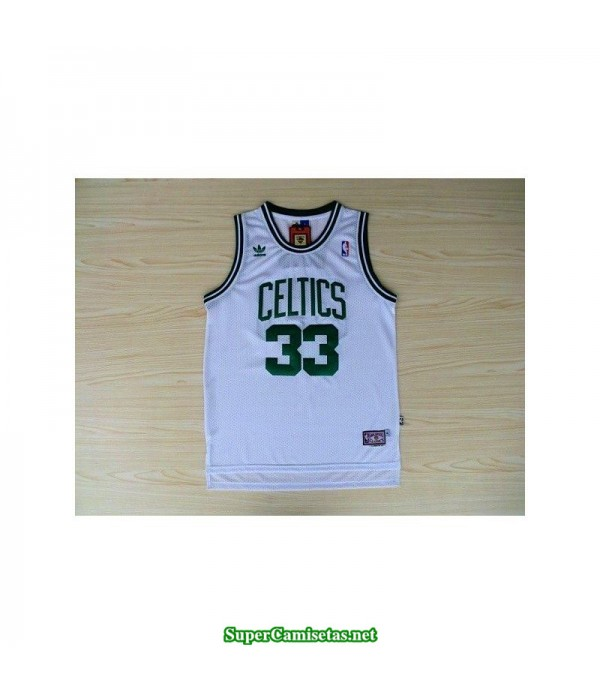 Camiseta Larry Bird retro blanca