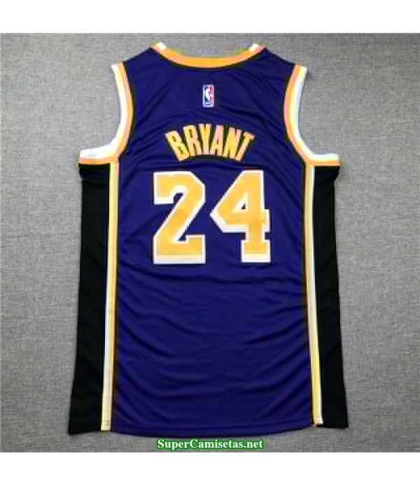 Camiseta Los Angeles Lakers Kobe Bryant 24 morada 2020