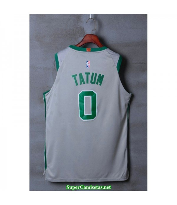 Camiseta Tatum 0 gris Boston Celtics