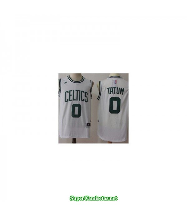 Camiseta Tatum 0 blanca Boston Celtics