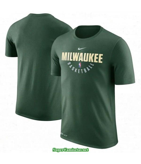 Camiseta Milwaukee Bucks Manga Corta