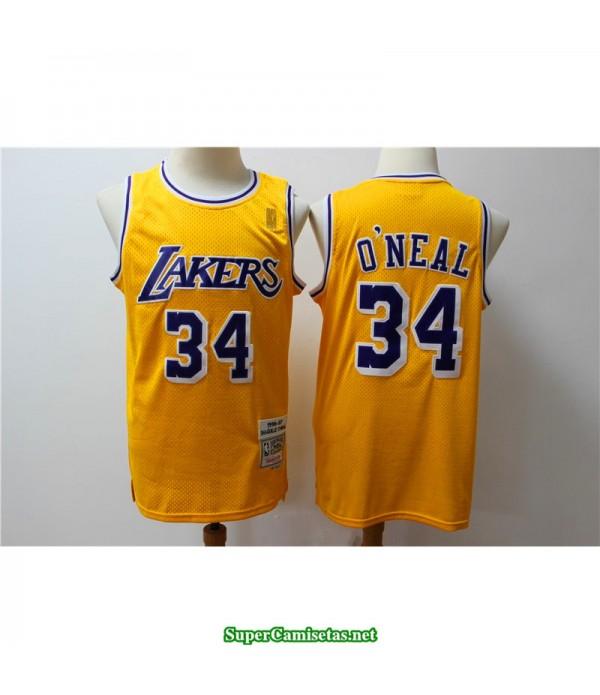 Camiseta Oneal 34 retro Angeles Lakers