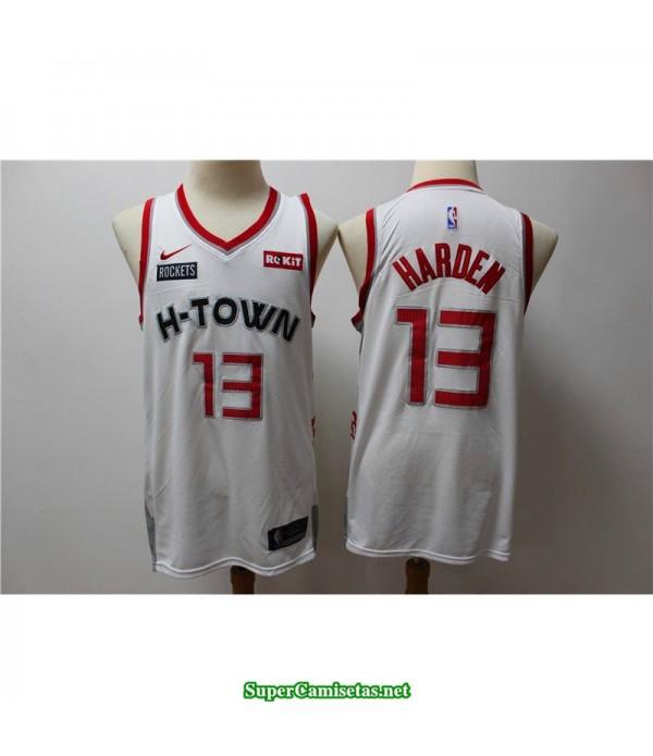 Camiseta 2020 Harden 13 blanca Houston Rockets Parche