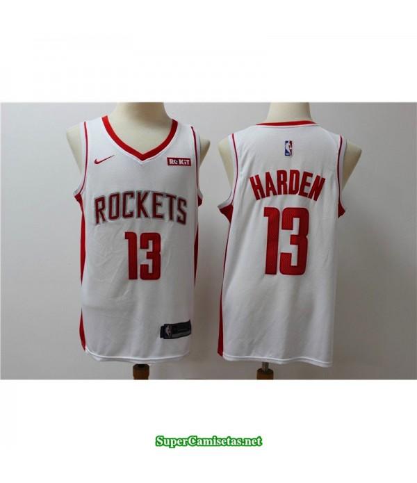 Camiseta 2019 Harden 13 blanca Houston Rockets Parche