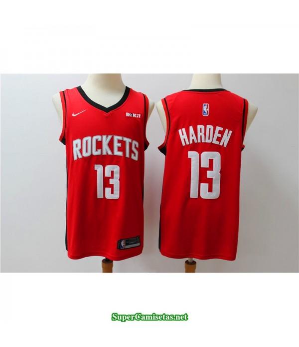 Camiseta 2019 Harden 13 roja Houston Rockets