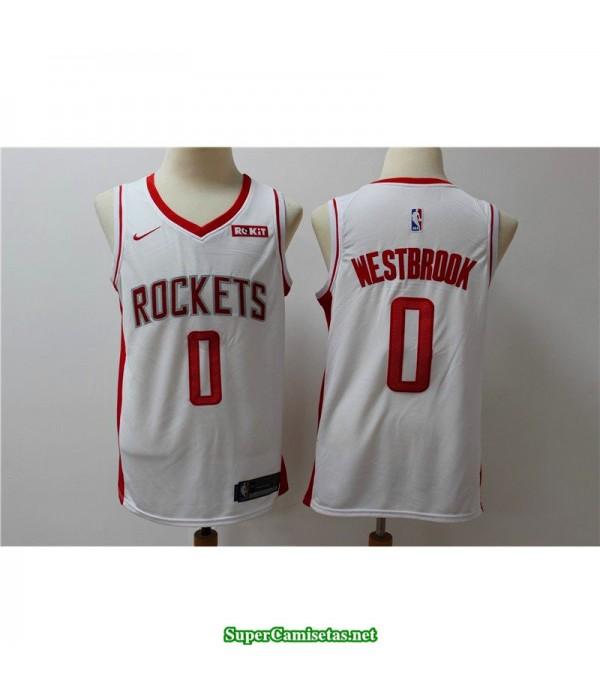 Camiseta 2019 Westbrook 0 blanca Houston Rockets
