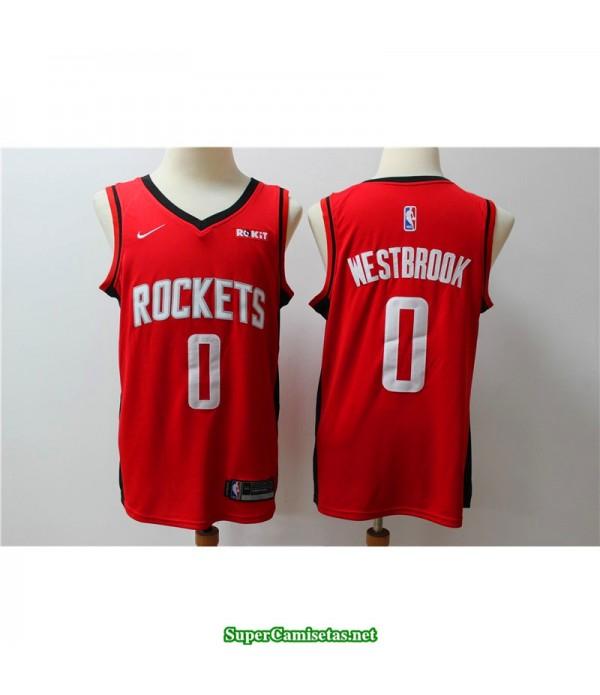 Camiseta 2019 Westbrook 0 roja Houston Rockets