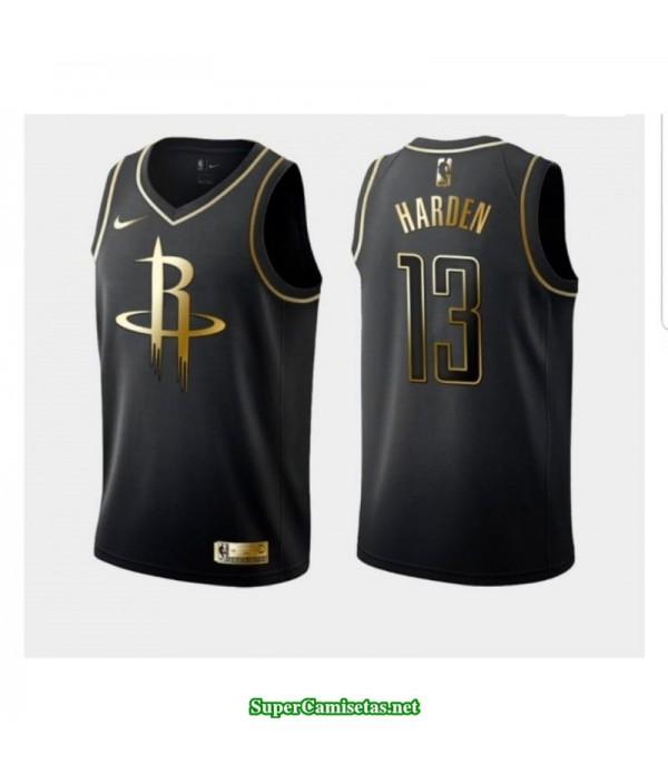 Camiseta 2019 Harden 13 negra gold Houston Rockets
