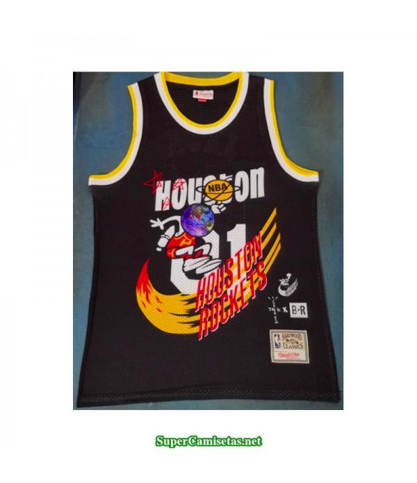Camiseta 2019 Jack Houston Rocket Hardwood negra