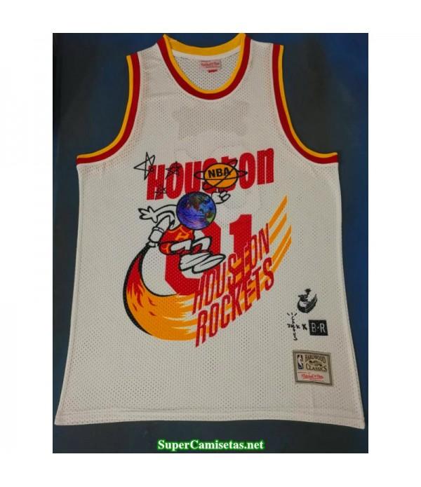 Camiseta 2019 Jack Houston Rocket Hardwood blanca