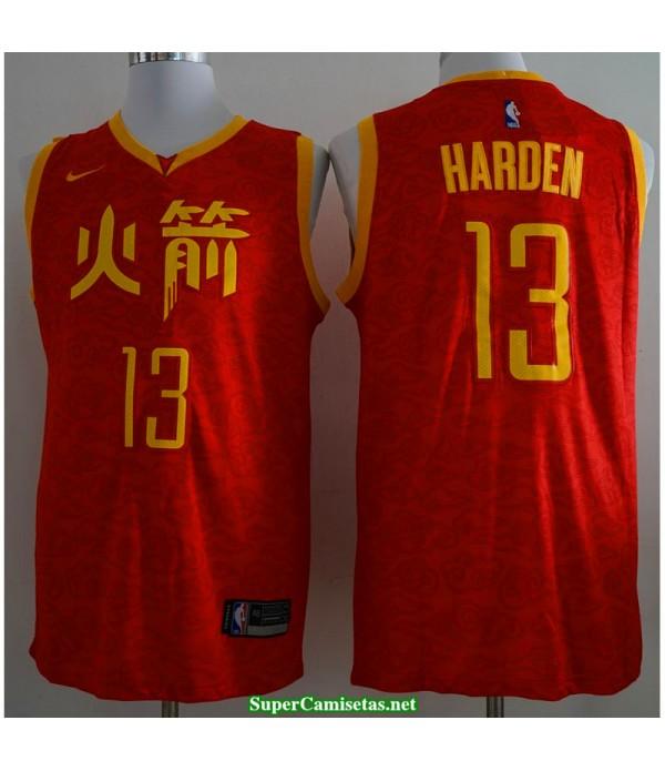 Camiseta 2019 Harden 13 roja Houston Rockets CH