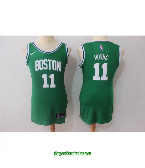 Camiseta 2018 Irving 11 chica Boston Celtics verde
