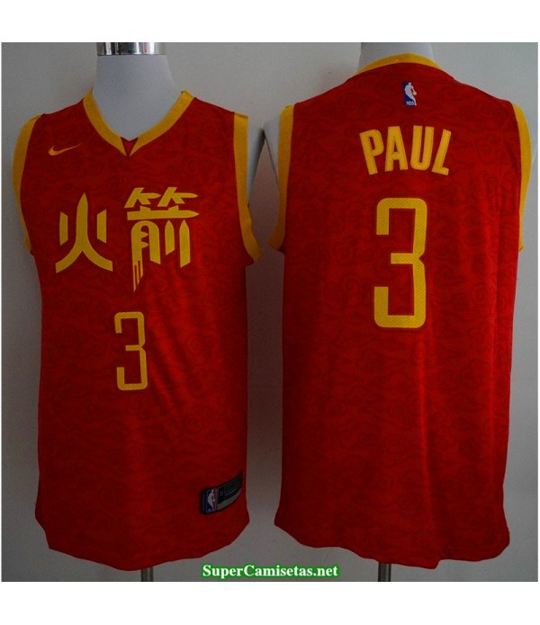 Camiseta 2019 Paul 3 roja Houston Rockets CH