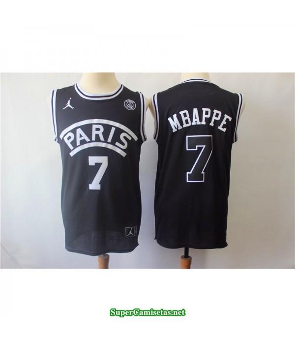 Camiseta Mbappe 7 Paris negra