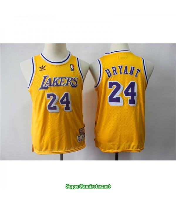 Camiseta NIÑOS Kobe Bryant Amarilla
