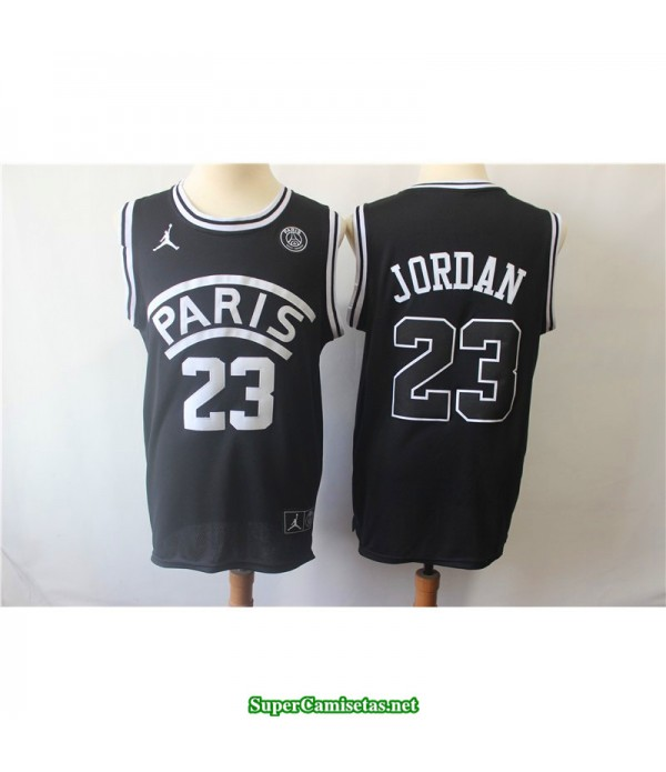 Camiseta Michael Jordan 23 Paris negra