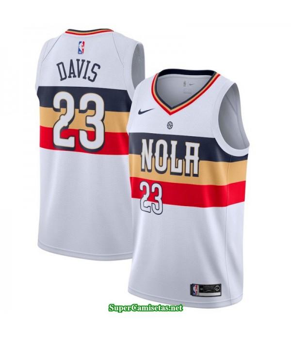 Camiseta 2019 Davis 23 blanca New Orleans Pelicans