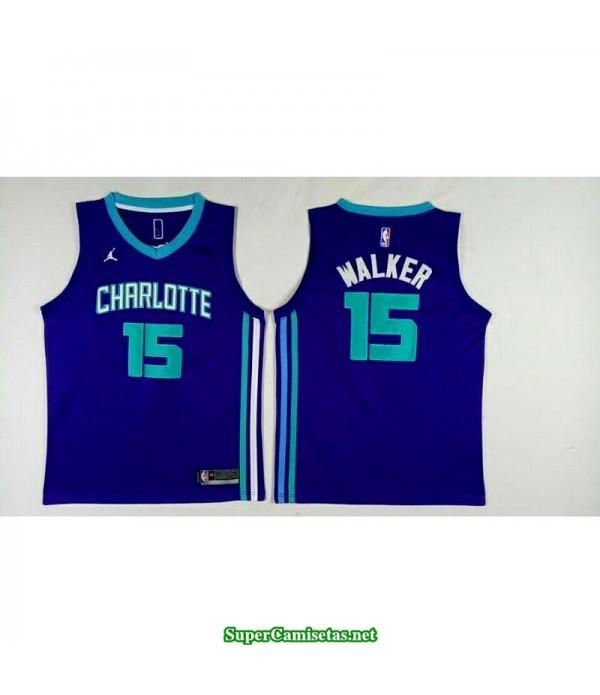 Camiseta 2018 Walker 15 azul New Orleans Pelicans