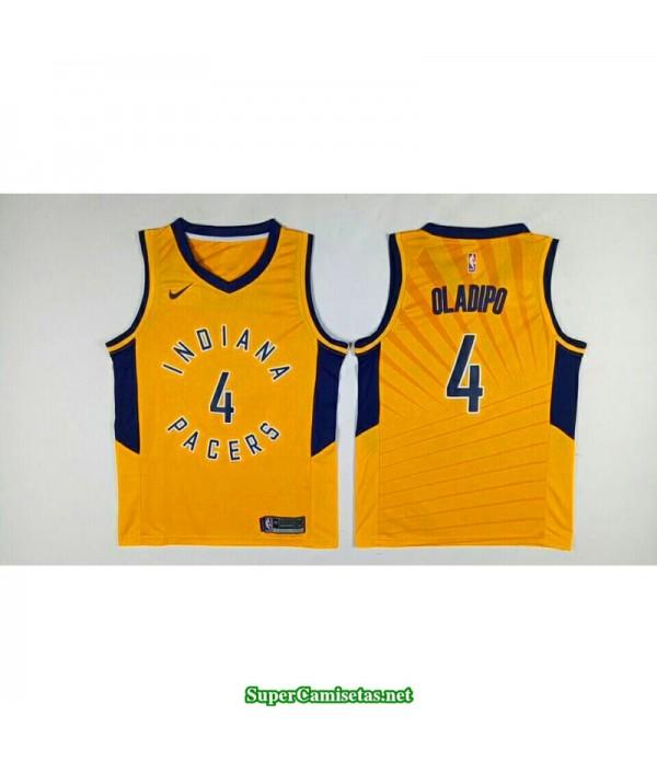 Camiseta 2018 Olapio 4 amarilla Indiana Pacers