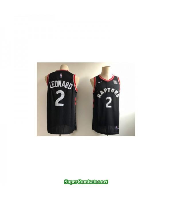 Camiseta Niños Leonard 2 negra Toronto Raptors