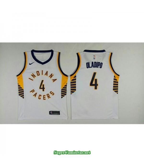 Camiseta 2018 Olapio 4 blanca Indiana Pacers