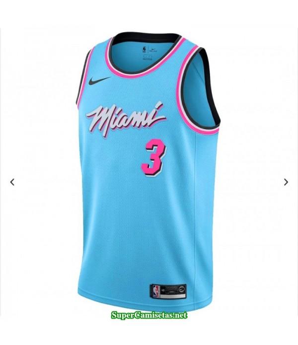 Camiseta Wade 3 azul Miami Heat city