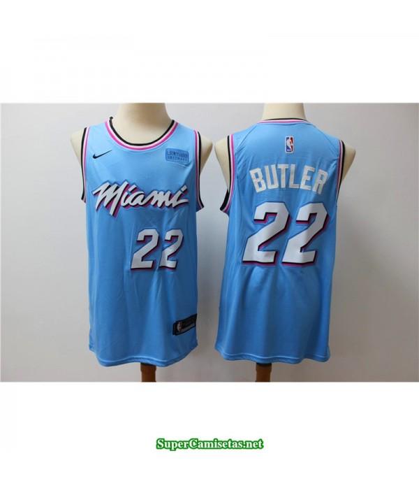Camiseta Butler 22 azul Miami Heat city