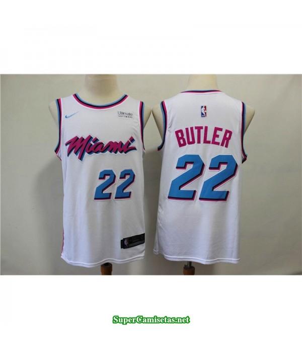 Camiseta Butler 22 blanca Miami Heat city