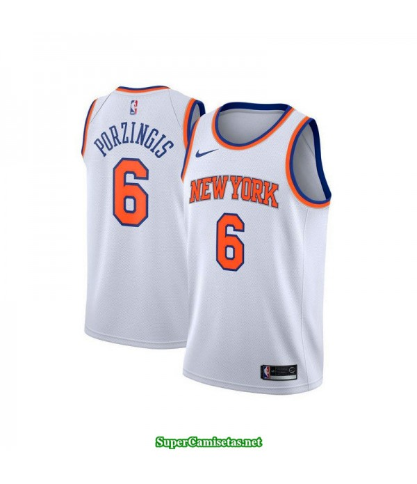 Camiseta 2018 Porzingis 6 blanca New York Knicks b