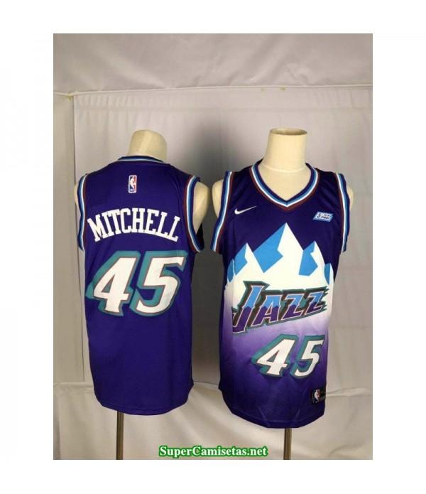 Camiseta 2020 Mitchell 45 azul Utah Jazz
