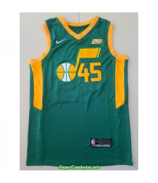 Camiseta 2018 Mitchell 45 verde Utah Jazz