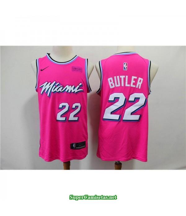 Camiseta Butler 22 rosa Miami Heat city